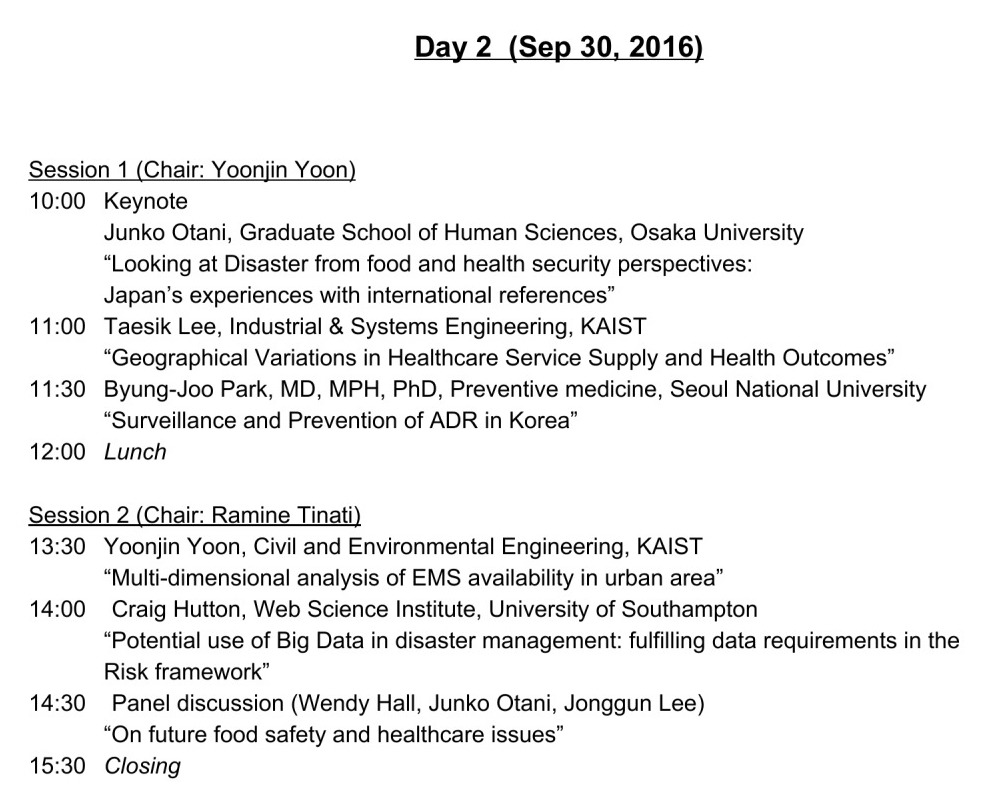 Day 2 programme